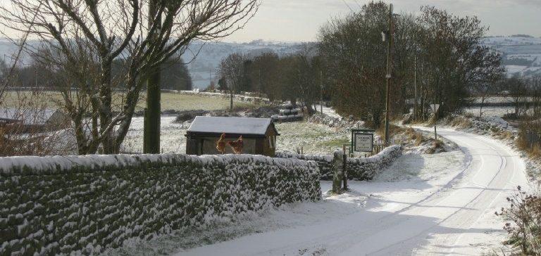 Back Lane in winter. Near Matlock, Derbyshire.